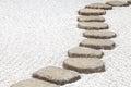 Zen stone path Royalty Free Stock Photo