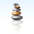 Zen stone tower Stock Image