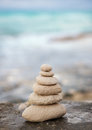 Zen stones, background ocean, see, place for the perfect meditation
