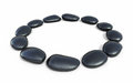 Zen stones circle form d render on white and clipping path Stock Photo