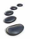Zen stones d render isolated on white and clipping path Royalty Free Stock Image