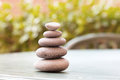 Zen stones rock cairn Royalty Free Stock Photography