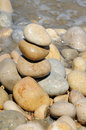 Zen stones on a seashore Royalty Free Stock Photos