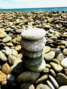 Zen stones on the seashore Royalty Free Stock Photo