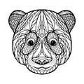 Zen tangle head of panda