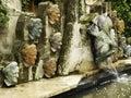 Zen temple fountain Royalty Free Stock Photo