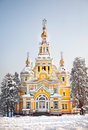 Zenkov Cathedral in Almaty Royalty Free Stock Photos