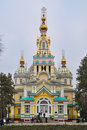 Zenkov Cathedral in Almaty Stock Image