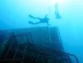 Zenobia Ship Wreck near Paphos Royalty Free Stock Photo