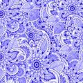 Zentangle meditation floral background. Vector art. Asian oriental motives. Textile, print