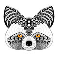 Zentangle raccoon for coloring page for adult,tattoo, logo, shirt design and other decorations Royalty Free Stock Photo