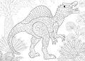 Zentangle spinosaurus dinosaur Royalty Free Stock Photo