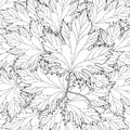 Zentangle stylized autumn fall leaves background for Halloween,