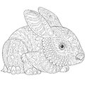 Zentangle stylized bunny