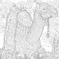 Zentangle stylized camel Royalty Free Stock Photo