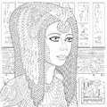 Zentangle stylized Cleopatra (Nefertiti) Royalty Free Stock Photo