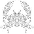 Zentangle stylized crab Royalty Free Stock Photo