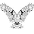 Zentangle stylized eagle Royalty Free Stock Photo