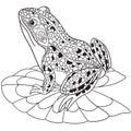 Zentangle stylized frog Royalty Free Stock Photo