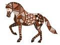 Zentangle stylized horse, swirl, illustration, vector, freehand Royalty Free Stock Photo