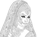Zentangle stylized indian woman Royalty Free Stock Photo