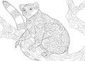 Zentangle stylized lemur