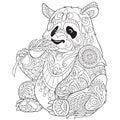 Zentangle stylized panda