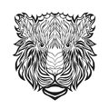 Zentangle stylized tiger head. Sketch for tattoo or t-shirt.
