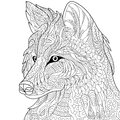Zentangle stylized wolf Royalty Free Stock Photo