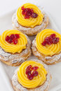 Zeppola di san giuseppe traditional italian pastry st joseph s day Stock Photo