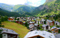 Zermatt at the matterhorn valais switzerland tilt shift photo has been modified to Royalty Free Stock Images