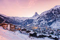 Zermatt at sunset Royalty Free Stock Photo