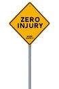 Zero Injury Reminder Stock Photos