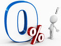 Zero percent apr Royalty Free Stock Photo