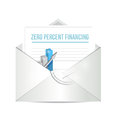 Zero percent financing paperwork illustration design over white Royalty Free Stock Images