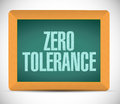 Zero tolerance message illustration design Royalty Free Stock Photo