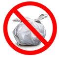 Zero waste, Rubbish bin made of plastic. Royalty Free Stock Photo