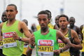 Zersenay tadese from eritrea in hervis marathon in prague held on Stock Photos