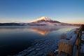 Zet Fuji op Royalty-vrije Stock Foto