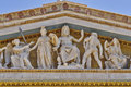 Zeus athena and other ancient greek gods and deities national university of athens greece neo classical building detail Stock Images