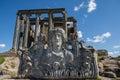 Zeus temple aizonai kutahya turkiet Royaltyfria Bilder