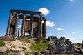 Zeus temple aizonai kutahya turkiet Arkivbild