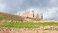 Zeus temple in town Jerash Royalty Free Stock Image