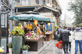 Zhaixiangzi alley narrow alley scenery this photo was taken in kuanzaixiangzi broad and chengdu city sichuan province china being Stock Images
