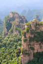 Zhangjiajie ancient mountains the province of hunan china Royalty Free Stock Image