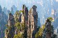 Zhangjiajie National forest park China Royalty Free Stock Photo