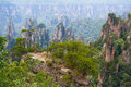 Zhangjiajie national park avatar mountains china Stock Photos