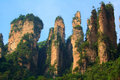 Zhangjiajie national park avatar mountains china Stock Image
