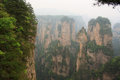 Zhangjiajie national park avatar mountains china Royalty Free Stock Images