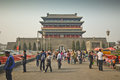 The zhengyang gate in beijing china Royalty Free Stock Images